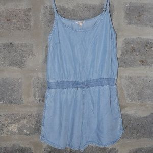 JUICY COUTURE denim shortall jumper shorts